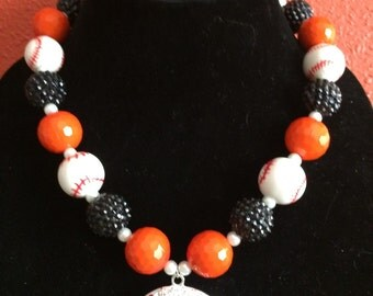San Francisco Giants inspired baseball necklace!