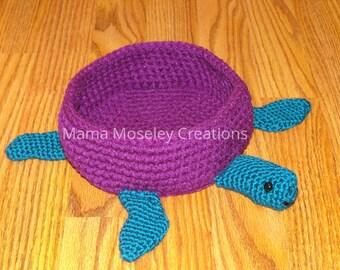 Sea turtle crochet bowl (Colors 28-49)