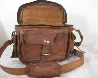 Leather Camera Bag Camera Satchel Leather bag Travel Camera bag DSLR camera Case Pouch