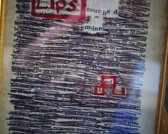 Blackout Poetry: His Lips
