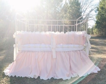 Crib Bedding - Baby Pink Crib Bedding - Baby Girl Bedding - Bedding for Girl - Nursery Bedding - Cinderella Bedding - Baby Bedding - Girl