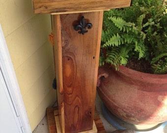 Wooden pedistal with storage