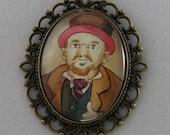 Velveteen Portraits: Professor Z - Cameo Necklace