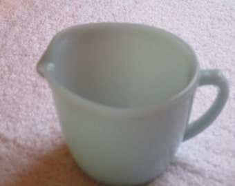 Fire King Turquoise Cream Pitcher
