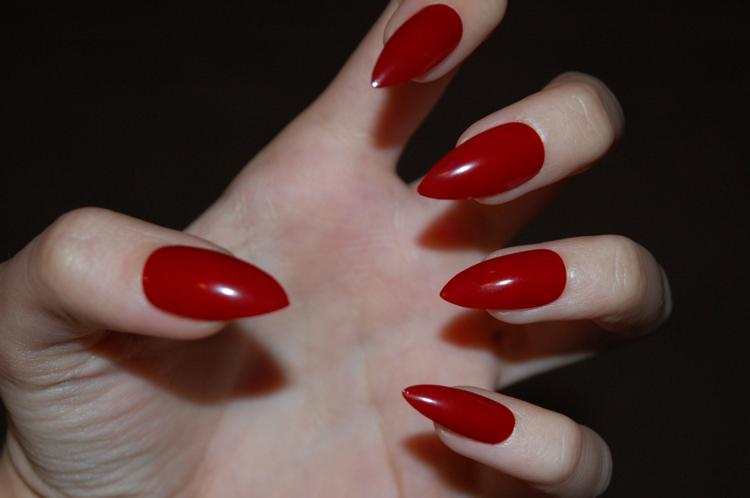 Red Matte or Glossy Stiletto