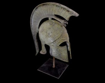Griffin small bronze marble based helmet