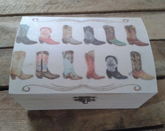 COWBOY BOOTS Large Box - Country Western