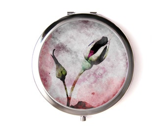 Rosebuds pocket mirror & Organza pouch