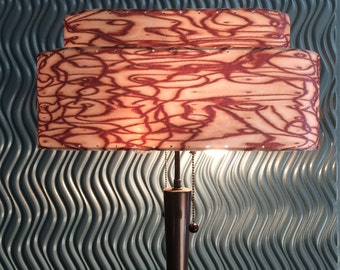 Mid  Century Modern Style Fiberglass Oval Lamp Shade