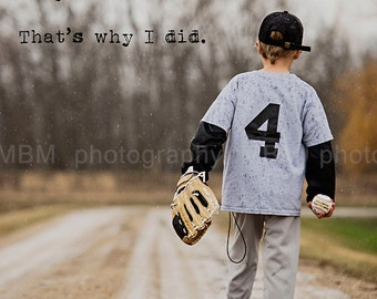8x10 Determination BaseballPrint