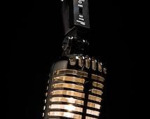 Hanging Retro Microphone Lamp