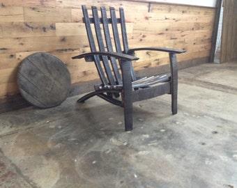 26'' wide Bourbon barrel chair