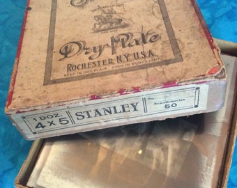 The Stanley Brothers Dryplate Mfg. Co., Rochester, NY/Glass Plate Negatives/Stanley Dryplates/Antique Photography Collectibles/Antiques