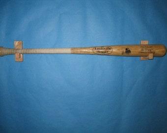 Solid Oak  horizontal baseball bat display case