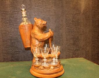 1900's Black Forest Liquor Set