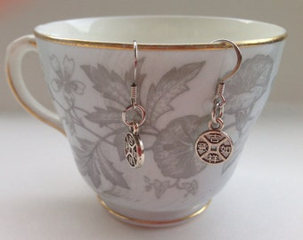 Chinese Coin Earrings  - Chinese Coin Charms - Chinese Jewelry
