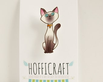 Saffi the Siamese Cat Brooch