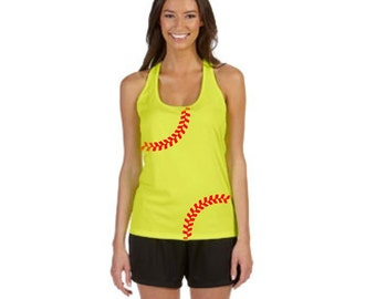 Softball Tank top-Ladies