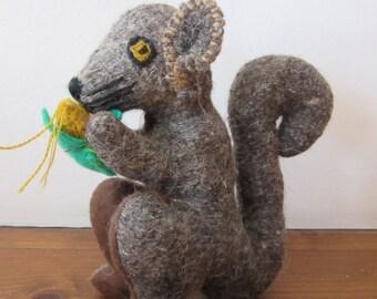 Stuffed wool squirrel from Chiapas