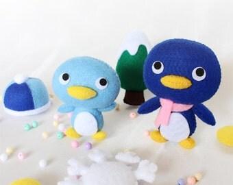 Penguin,Penguin garland,Penguin doll,Felt doll,Garland,Stuffed toys,Stuffed penguin,soft toys