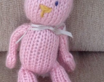 SALE Handknitted  Little pink Bunny