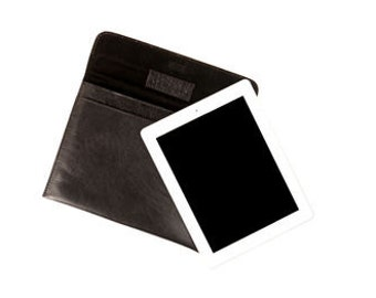Black Leather iPad Cover By Vida Vida