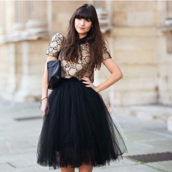 Black Tulle Skirt Bridesmaid Flower Girl Skirt Wedding Dress Tutu Ballet