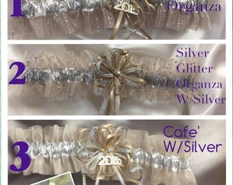 Taupe/Cafe Wedding or Prom Garter