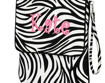 Monogram Ipad Mini/ Tablet Case Zebra