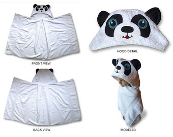 panda hooded towel