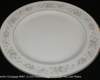 Carlton (Japan) Corsage 12 inch round platter