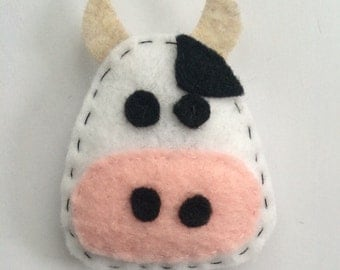 Felt Cow Catnip Cat Toy Handmade