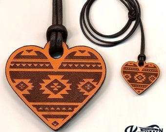 Laser Cut | Heart Necklace / Keychain