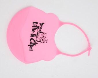 Silicone Bib - Pink