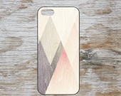 Triangle shapes over wood grain effect background hipster geometric pattern kool design fashion iphone 4 5 5C 6 samsung galaxy s3 s4 s5