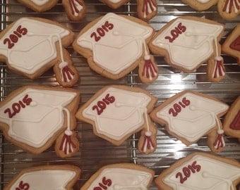 12 graduation cap cookies