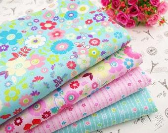 Fat Quarter Bundle - thin - CARTOON FLOWER collection - 4 fat quarters