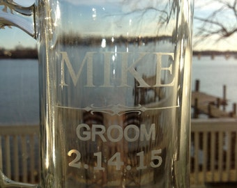 Personalized Beer Mug, Groomsman Gifts, Bachelor Party Favors