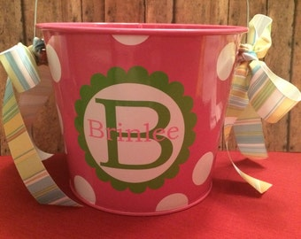 Personalized Easter Bucket - Personalized Easter Pail - Personalized Easter Basket - Monogramed Easter Bucket - Monogramed Easter Pail
