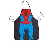 Adult spiderman apron, spiderman costume, superhero kids clothes, cosplay, super hero cosplay, christmas, geek, nerd, birthday, spider man