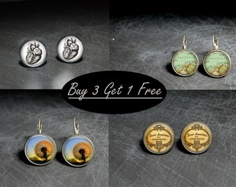 Earrings Special - Buy 3 Get 1 Free
