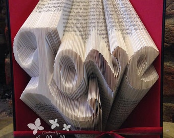 Book Folding Pattern 'Love' (304 Folds) PDF & Tutorial - Immediate Download