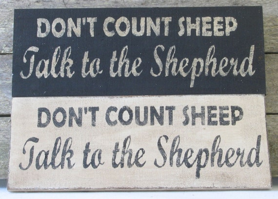 Don't Count Sheep Wooden Sign