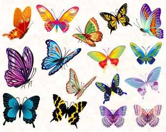 Digital Butterfly Clip Art Colorful Butterfly Clipart Pink Butterfly Blue Butterfly Purple Butterfly Orange Butterfly Pink Butterfly 0120