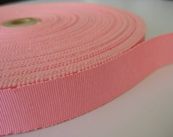 "SALE *Vintage Pink Grosgrain Ribbon - 1"" (25 mm)"