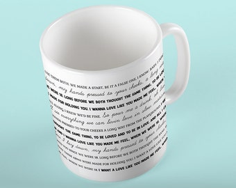 Coffee Mug 18 Lyrics Mug - One Direction