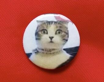 """Dramatic Cat 1"""" Pin"""
