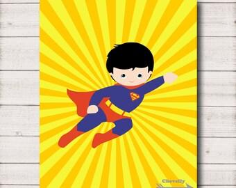 Superman 8x10 Printable - WA001