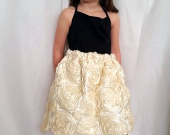 Cream Rose Elegant Skirt