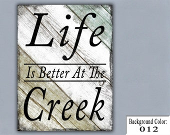 CREEK, Handmade Sign, Wooden Sign, Wood Sign, Home Decor, Wall Decor, Personalized Sign, Custom Wood Sign, Gift for Family, Gift for Friends